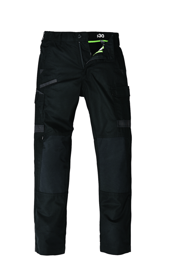 The FXD Workwear WP-5 Lightweight Work Pant, colour black, photographed from the front.