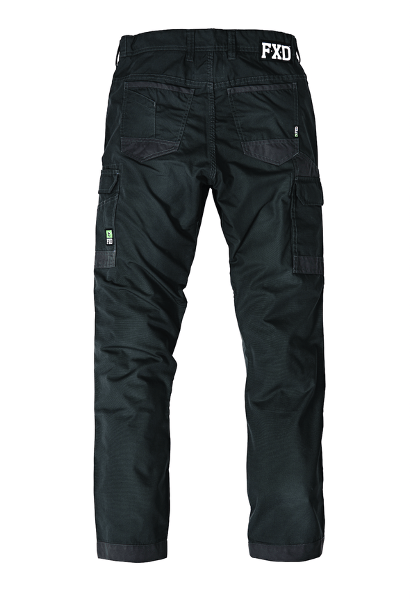 The FXD Workwear WP-5 Lightweight Work Pant, colour graphite, photographed from the back.