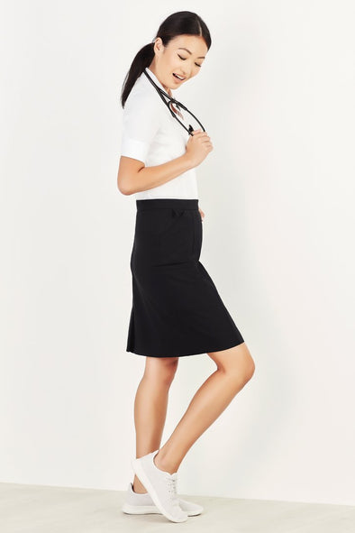 Biz Care - Women's Comfort Waist Cargo Skirt - CL956LS