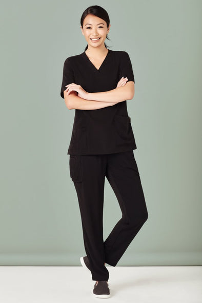 Biz Care - Women's Slim Leg Scrubs Pant - CSP943LL (Black Not Available)