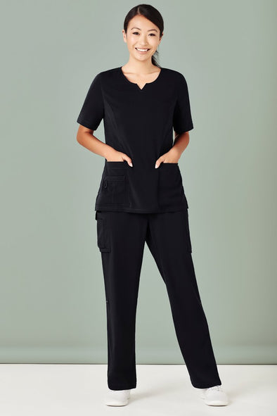 Biz care - Women's Tailored Fit Round Neck Scrubs Top - CST942LS