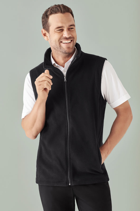 Biz Care - Men's Plain Micro Fleece Vest - F233MN