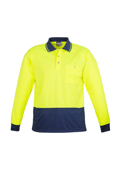 Syzmik - ZH232 - Unisex Hi Vis Basic Spliced Polo - Long Sleeve