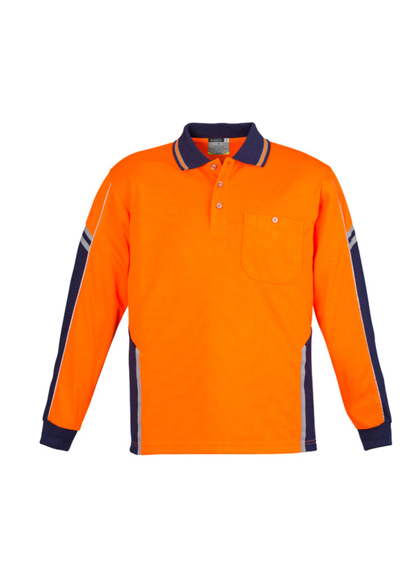 Syzmik Workwear Mens Hi Vis Squad Long Sleeve Polo at National Workwear Gold Coast Australia
