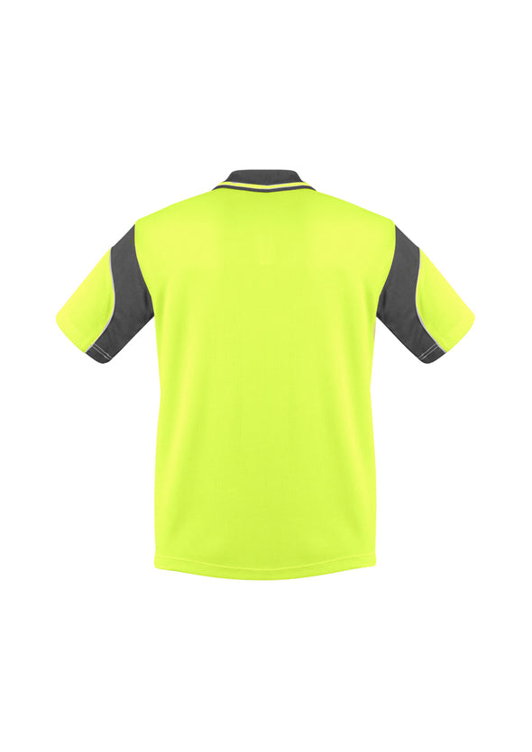 Syzmik Workwear Mens Hi Vis Aztec Polo Short Sleeve at National Workwear Gold Coast Australia