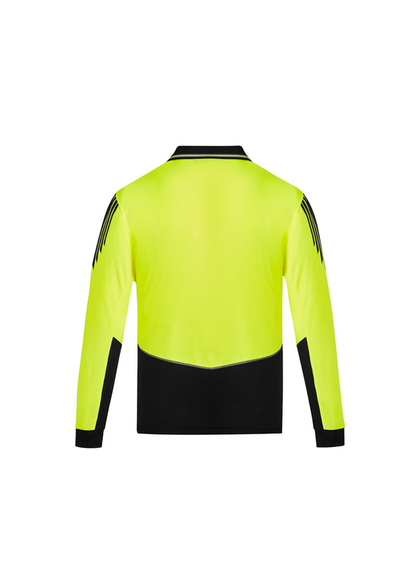 Syzmik Workwear ZH310 Mens Hi Vis Flux Long Sleeve Polo at National Workwear Australia.