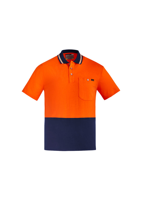Syzmik - ZH435 - Mens Hi Vis Cotton S/S Polo