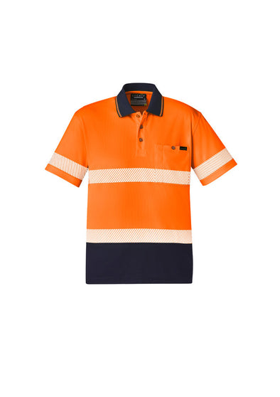 Syzmik - ZH535 - Unisex Hi Vis Segmented S/S Polo - Hoop Taped