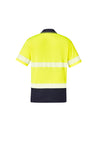Syzmik Workwear ZH535 Unisex Hi Vis Segmented Short Sleeve Polo - Hoop Taped at National Workwear Australia.