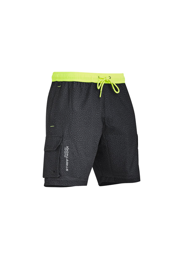 Syzmik ZS240 Men's Streetworx Stretch Work Board Short at National Workwear Gold Coast Australia