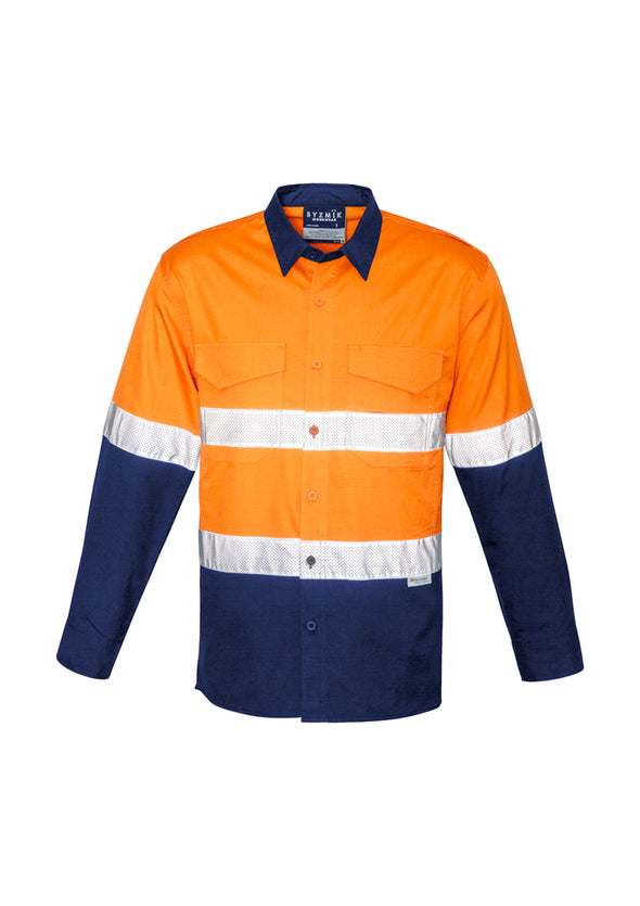 Syzmik - ZW129 - Men's Rugged Cooling Taped Hi Vis Spliced Shirt