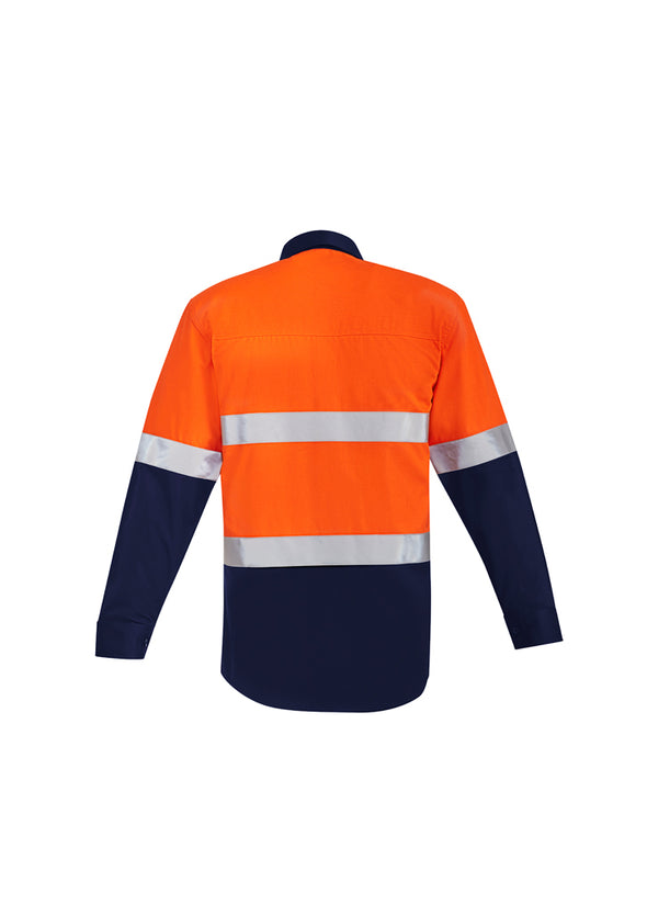 Syzmik - ZW140 - Mens Orange Flame HRC 2 Hoop Taped Open Front Spliced Shirt