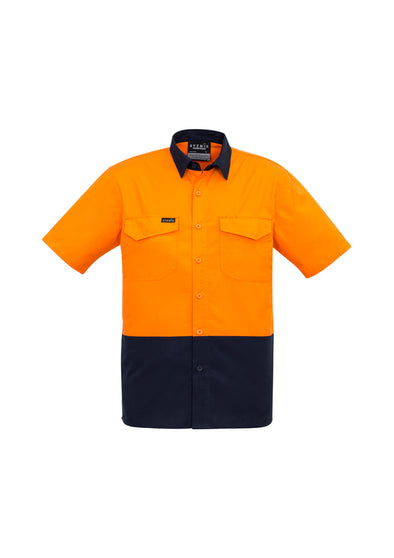 Syzmik - ZW815 - Mens Rugged Cooling Hi Vis Spliced S/S Shirt