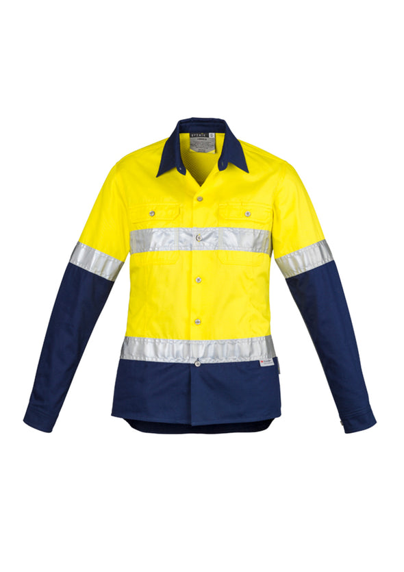 Syzmik - ZWL123 - Womens Hi Vis Spliced Industrial Shirt - Hoop Taped