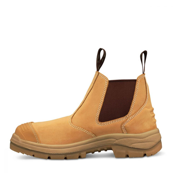 55322 Oliver Wheat Elastic Sided Boot - National Workwear Australia
