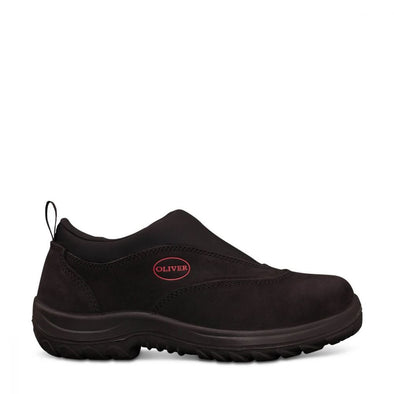 34610 Oliver Black Slip-On Sports Shoe