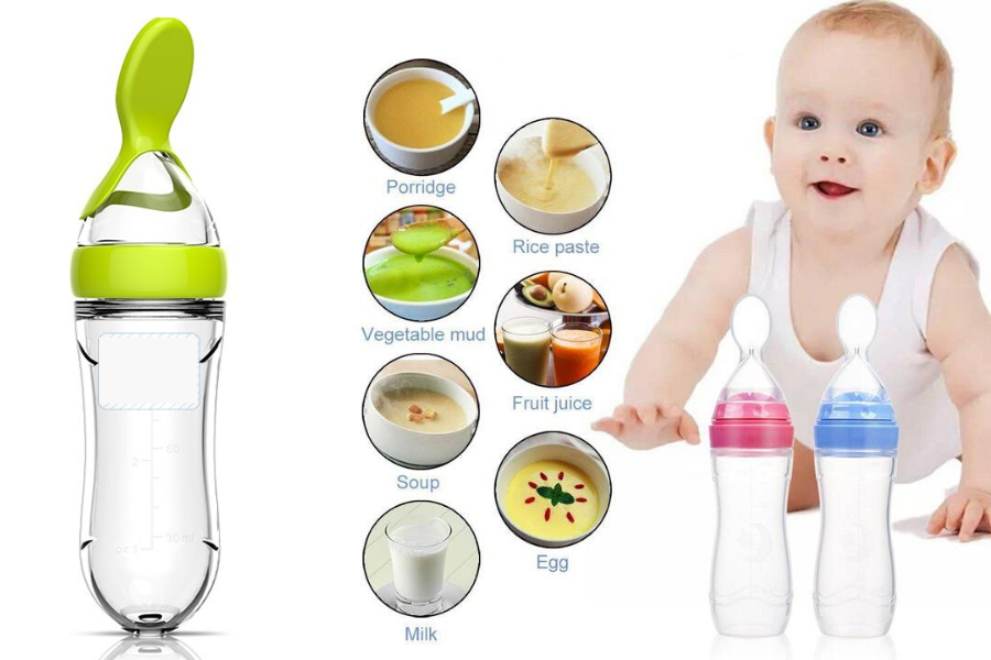 BABY DISPENSING FEEDING SPOON