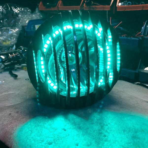 Electric Green Light with Grill