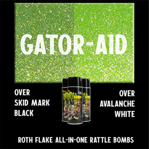 Lime Green Flake Spray Paint Roth Flake rattle bomb