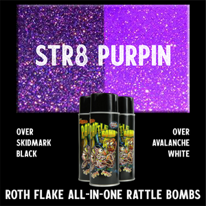 Purple Flake Spray Paint Roth Flake rattle bomb