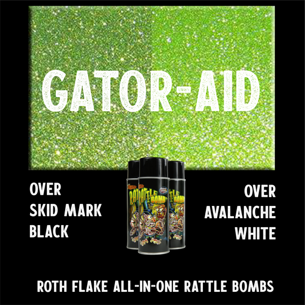 Green Flake Spray Paint Roth Flake rattle bomb