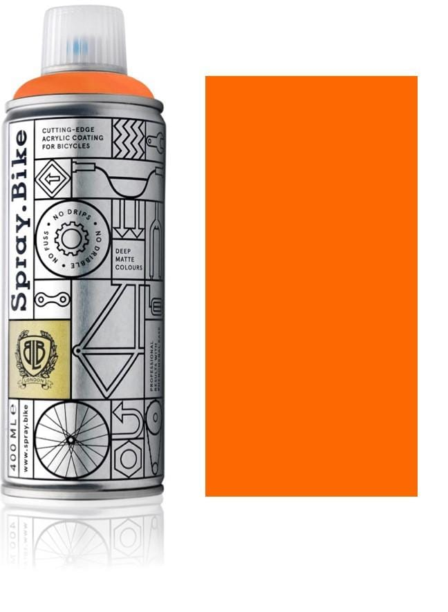 Fluro Orange bike spray paint fluorescent bike paint