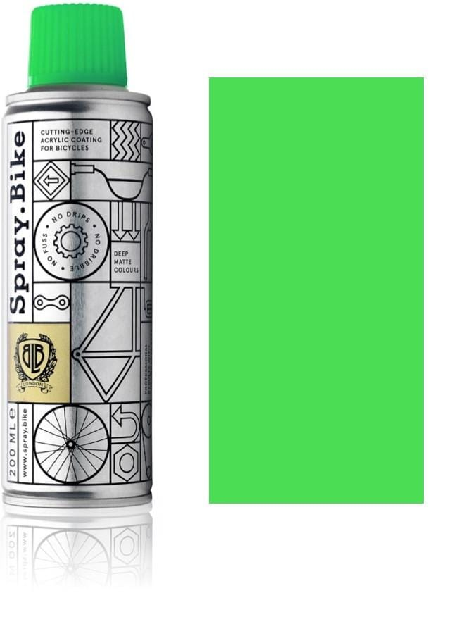 Fluro green bike spray paint fluorescent green bike paint
