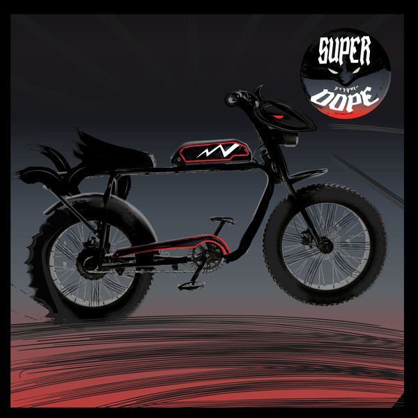 Batman Super73 x Paul Pope custom decal set at www.Custom-Ebike.com