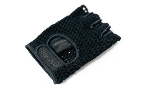 Black fingerless glove for bikes and electric bikes