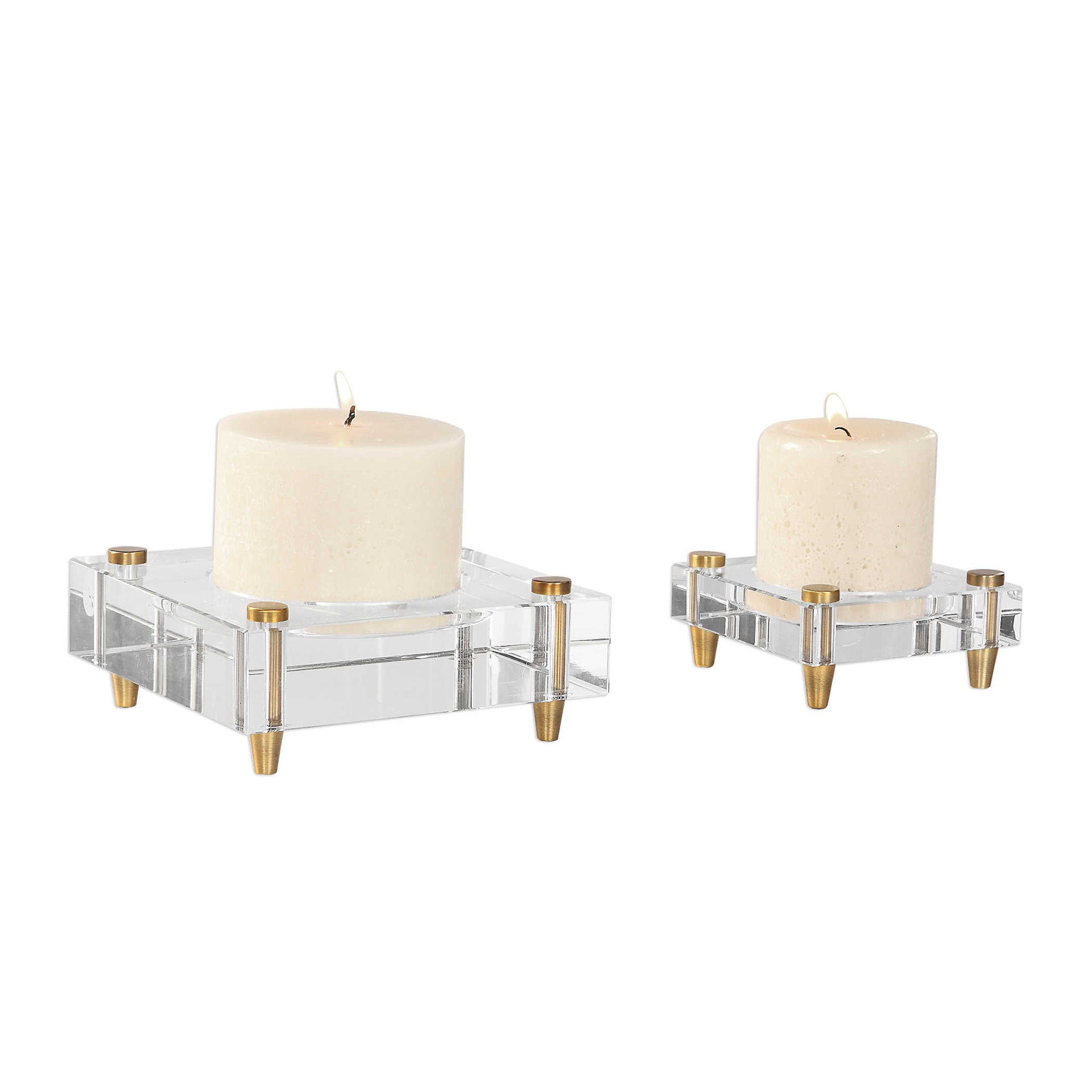 CLAIRE CANDLEHOLDERS, S/2 - rubyandcompanyqc