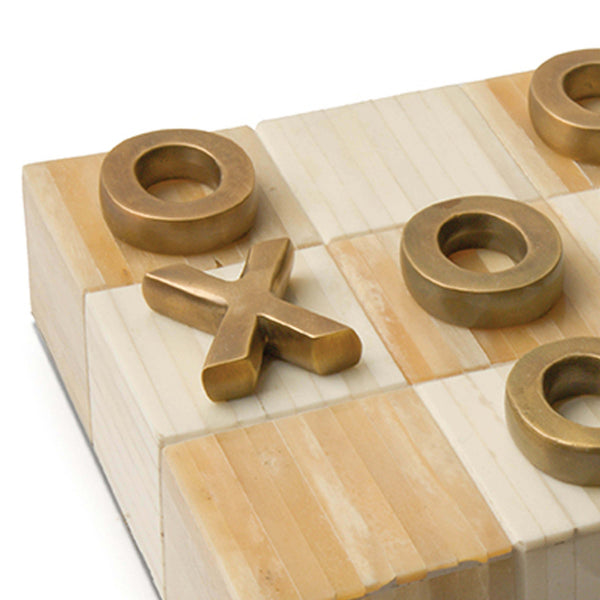 Tic Tac Toe Flat Board, Natural - rubyandcompanyqc