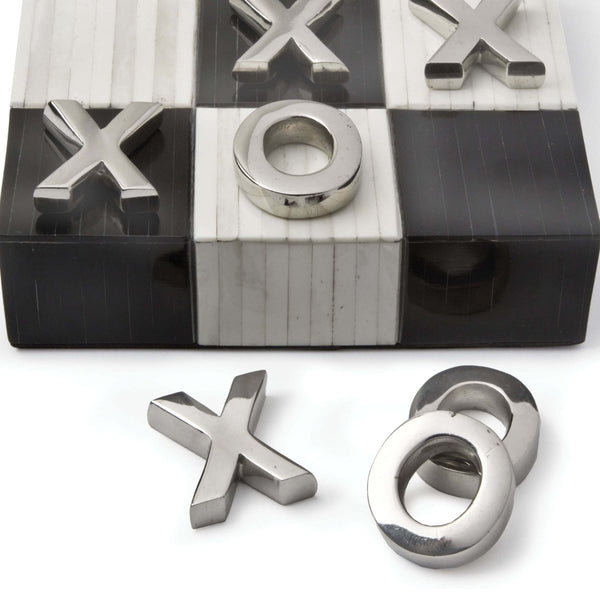 Tic Tac Toe Flat Board, Black and White - rubyandcompanyqc