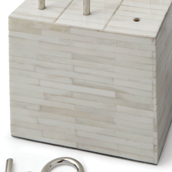 Tic Tac Toe Block, White - rubyandcompanyqc