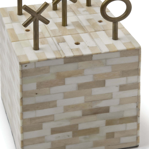 Tic Tac Toe Block, Natural - rubyandcompanyqc