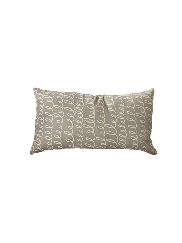 Verbomania Grey Pillow - rubyandcompanyqc