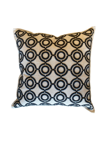 White and Blue Decorative Pillow - rubyandcompanyqc