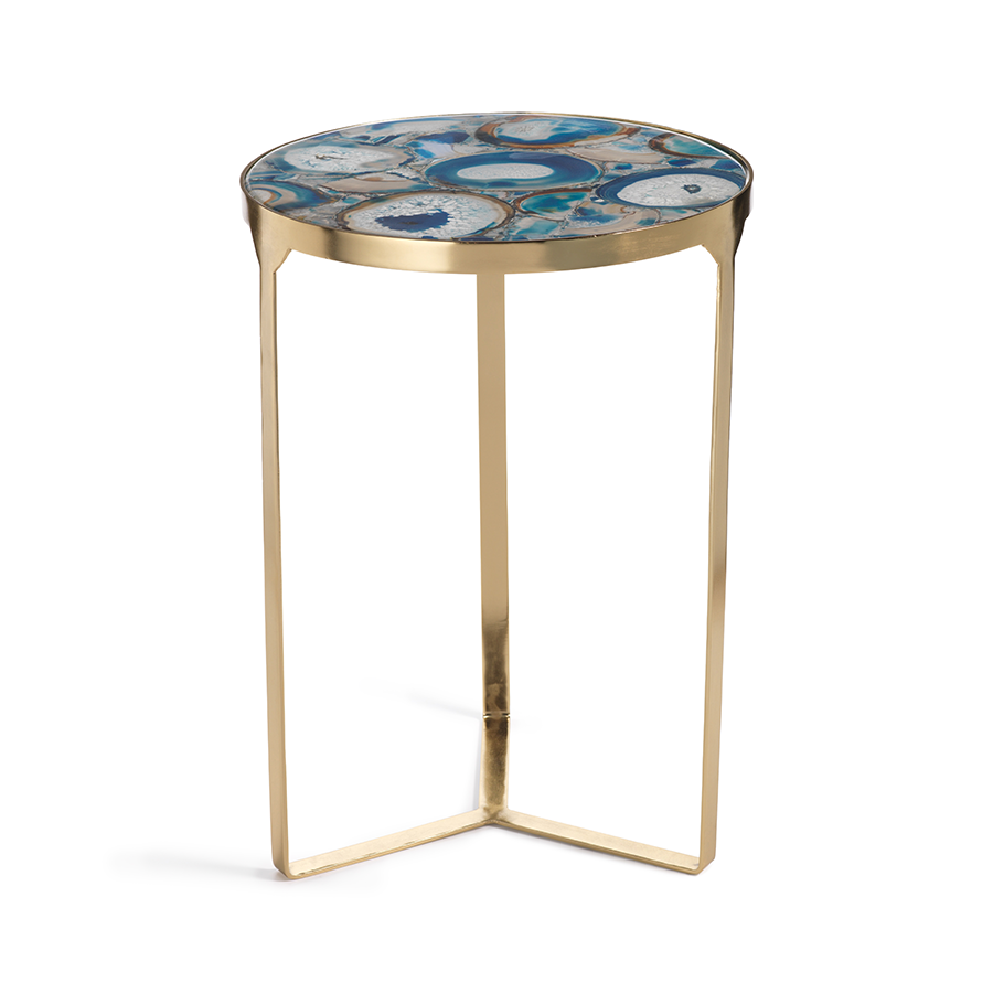 La Sardaigne Blue Agate End Table - Ruby and Company