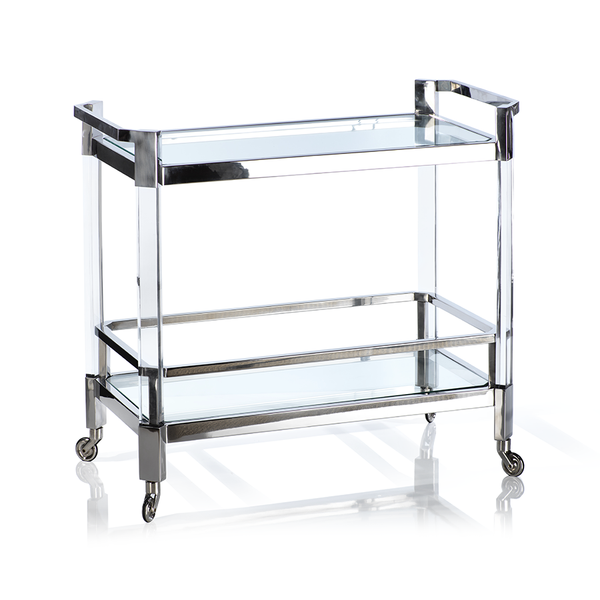 The Langham Bar Cart, Polished Gold or Nickel - Ruby and Company