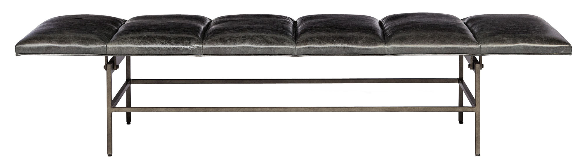 Ardmore Leather Channel Bench