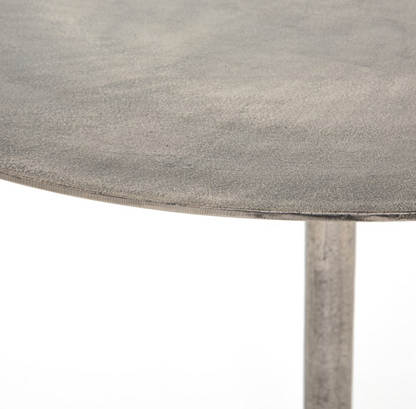 Simone Raw Nickel Bistro Table
