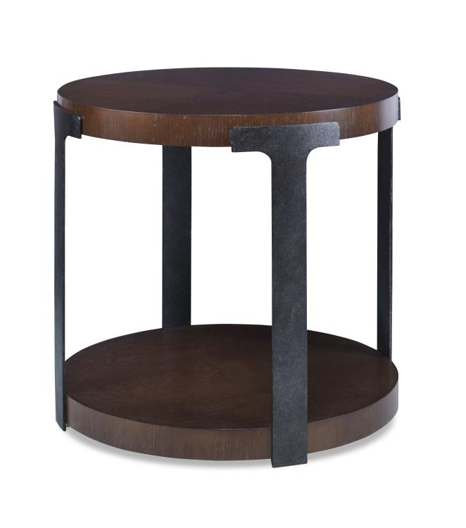 Casa Bella Sunburst Chairside Table - rubyandcompanyqc