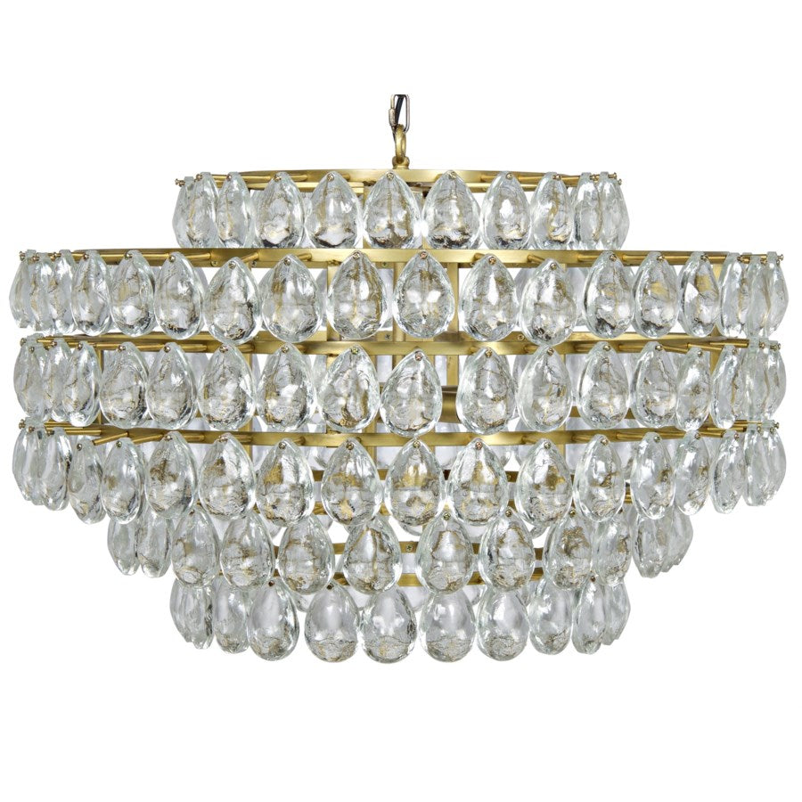 Linden Chandelier, Antique Brass, Metal and Crystal - Ruby and Company