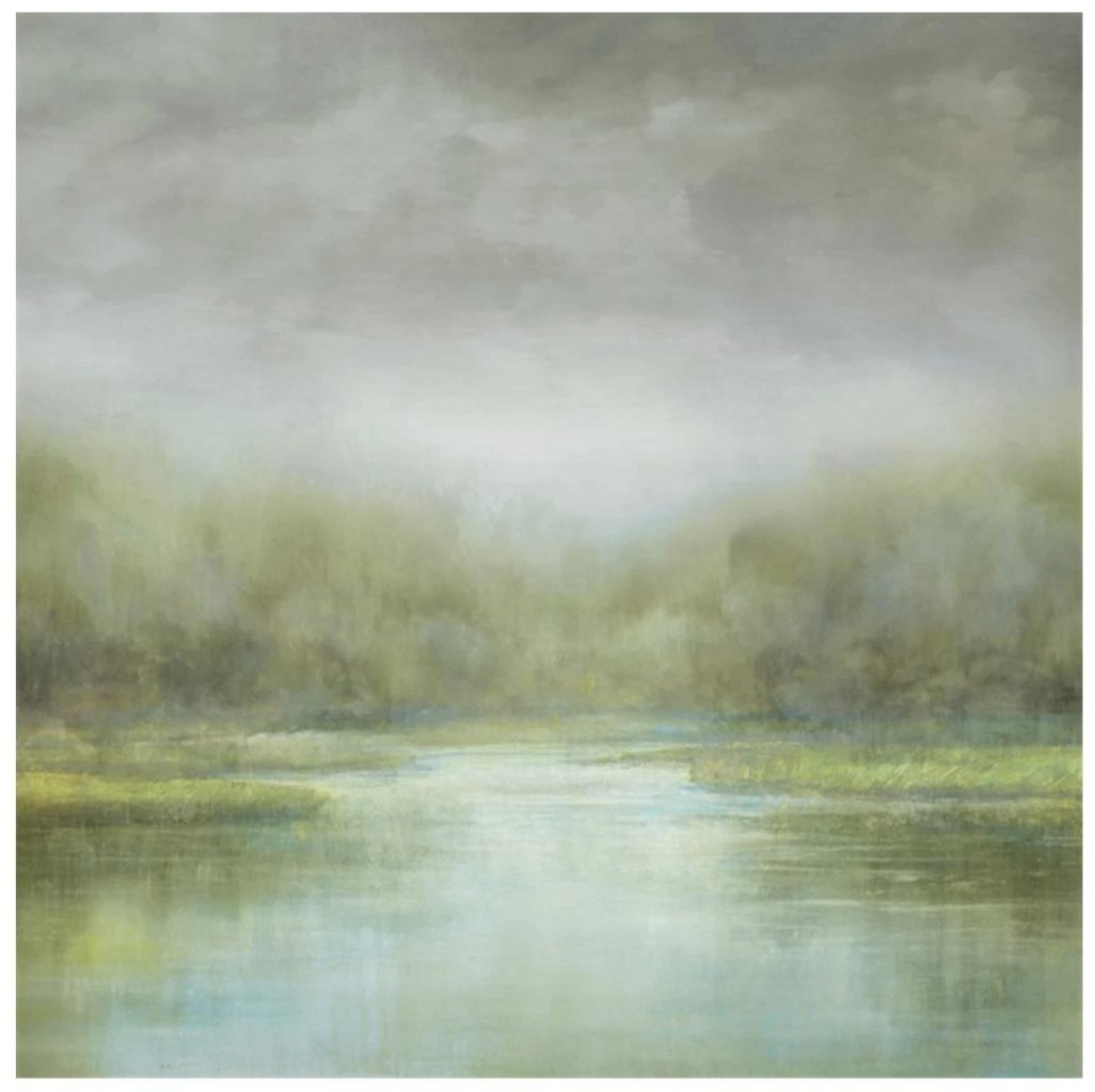 "Misty Water (40"" x 40"") - Ruby and Company"