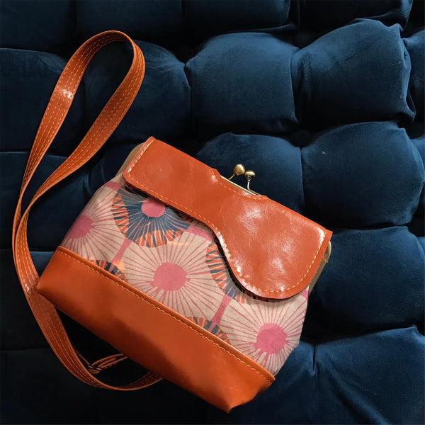 The Audrey Waterproof Cross Body Bag - Mod Orange