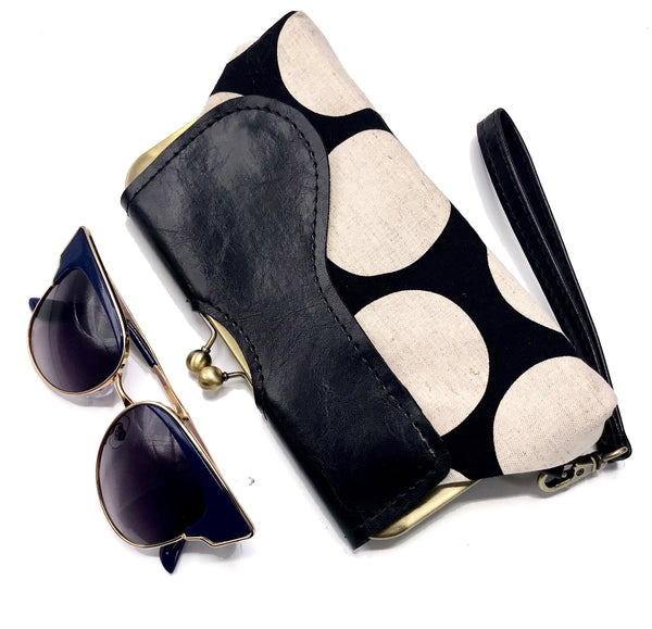 The Audrey Wallet Clutch Polka Dots - One in Stock + Ready To Ship!