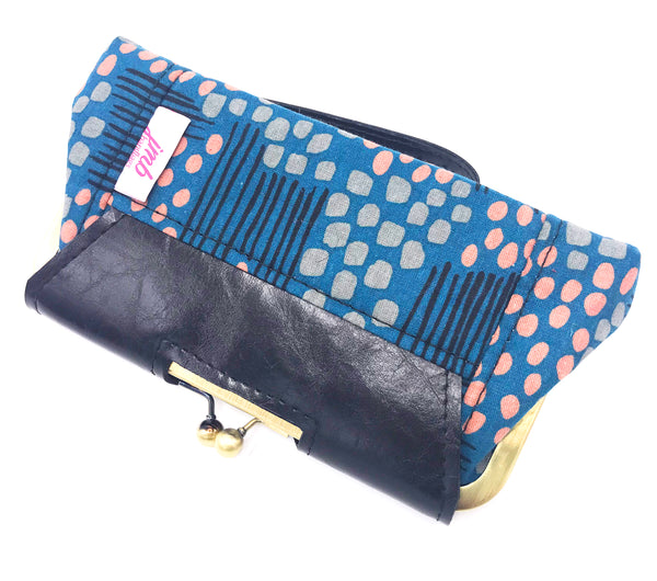 Back View Navy Clutch