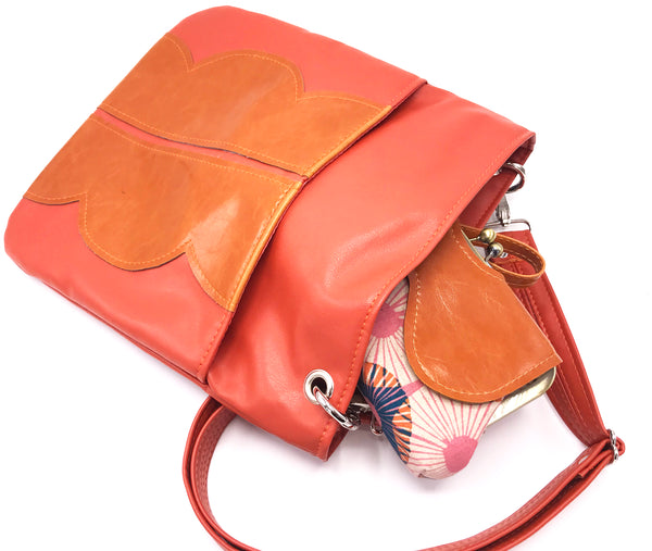 Cloud Cross Body Tote - Coral Clementine