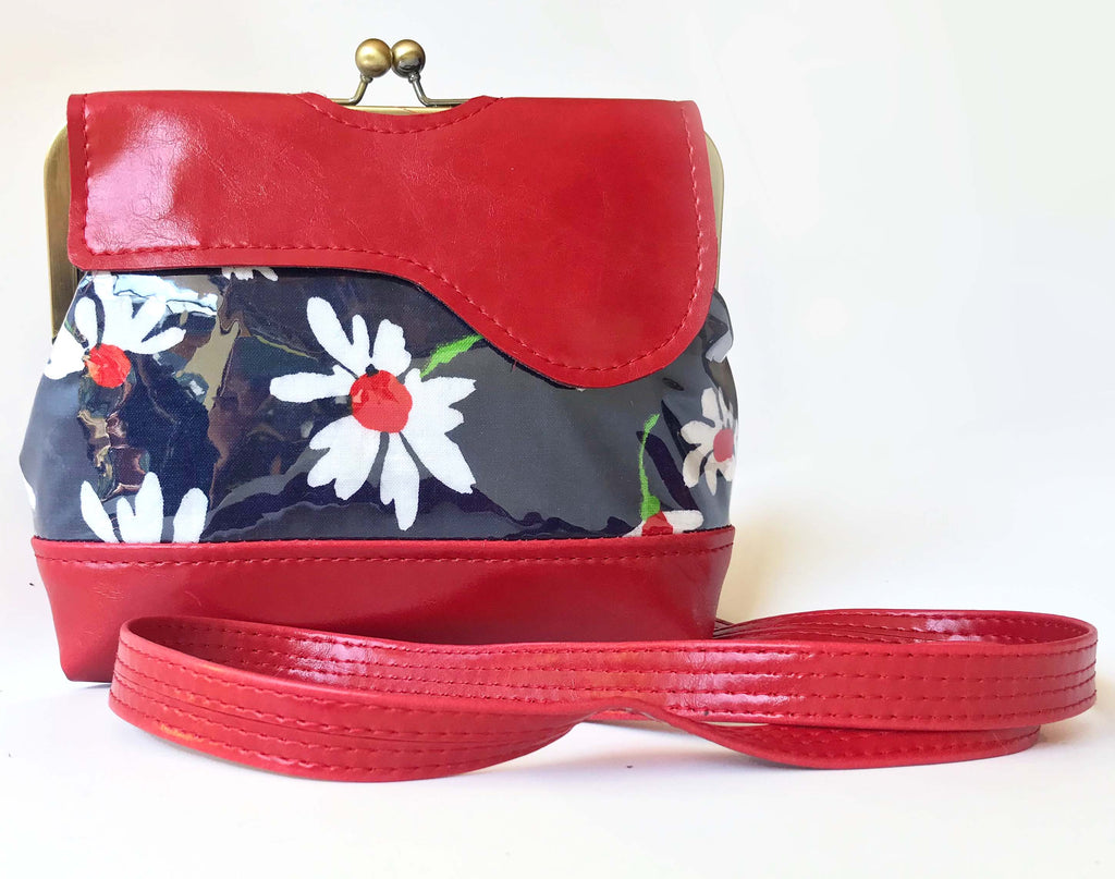 Audrey Waterproof Cross Body Bag - Featuring Vintage Daisies