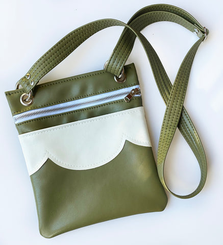 The Cloud Cross Body Travel Bag - Olive + Cream