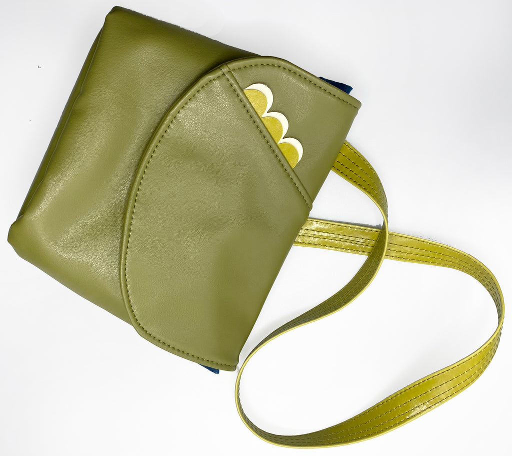 The Kelice Adjustable Cross Body Bag - Double Scallops - Click to view more colors!
